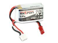 Vorschau: Modellbau-Akkupack EXTRON X1, LiPo, 7,4 V-/650 mAh