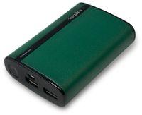Vorschau: USB Powerbank LogiLink, 7800 mA, 2x USB-Port, grün Lederoptik