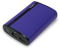 Vorschau: USB Powerbank LogiLink, 7800 mA, 2x USB-Port, violett Lederoptik