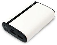 Vorschau: USB Powerbank LogiLink, 7800 mA, 2x USB-Port, weiß Lederoptik