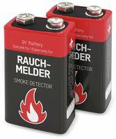Vorschau: 9V-Blockbatterie, ANSMANN Alkali, 550mAh, 2 Stück, für Rauchmelder