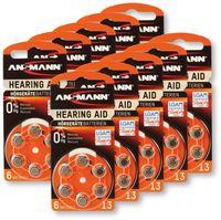 Vorschau: Hörgeräte-Batterie, ANSMANN, HEARING AID, PR48, Größe 13, 60 Stück