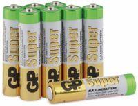 Vorschau: Micro-Batterie-Set GP SUPER Alkaline 8 Stück