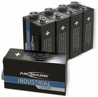 Vorschau: Lithium-Batterie, ANSMANN, INDUSTRIAL, 9V-Block, 5 Stück
