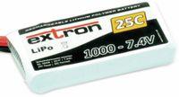 Vorschau: Modellbau-Akkupack EXTRON X2, LiPo, 7,4 V-/1000 mAh, 25C