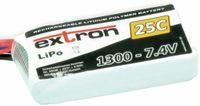 Vorschau: Modellbau-Akkupack EXTRON X2, LiPo, 7,4 V-/1300 mAh, 25C
