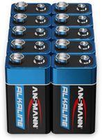 Vorschau: 9V-Blockbatterien-Set, ANSMANN ALKALINE, 10 Stück