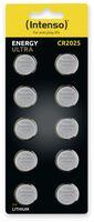 Vorschau: Lithium-Knopfzelle INTENSO CR2025, 10 Stück