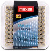 Vorschau: Micro-Batterie MAXELL, Alkaline, AAA, LR03, 100er Box