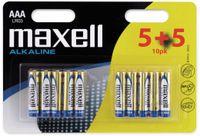 Vorschau: Micro-Batterie MAXELL, Alkaline, AAA. LR03, 10 Stück