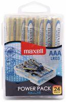 Vorschau: Micro-Batterie MAXELL, Alkaline, AAA, LR03, 24 Stück