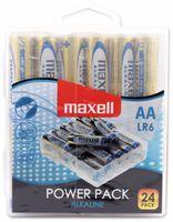 Vorschau: Mignon-Batterie MAXELL, Alkaline, AA, LR6, 24 Stück
