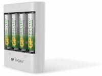 Vorschau: USB-Ladegerät GP GPRHOU411012, inkl. 4 NiMH-Mignon-Akkus GP ReCyko+