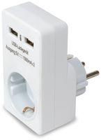 Vorschau: USB-Lader, Logilink, PA0112, 2-fach,weiß, mit Steckdosenadapter