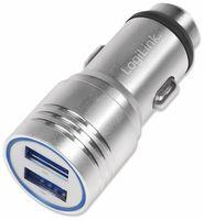 Vorschau: USB-Lader KFZ LOGILINK PA0228, 2-fach, 2,1 A, silber, integrierter Nothammer