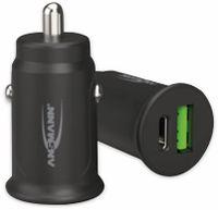 Vorschau: USB-Ladegerät KFZ ANSMANN CC230PD, USB-C (PD), 30 W, 5 V-, 3 A, QC 3.0, schwarz