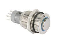 Vorschau: Metall-Einbaudrucktaster mit LED-Beleuchtung