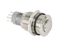 Vorschau: Metall-Einbaudruckschalter mit LED-Beleuchtung