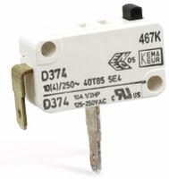 Vorschau: Miniatur-Schnappschalter CHERRY D374-QGAA, Schließer, 10 A/250 V~