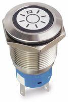 Vorschau: Drucktaster 1 Schließer, 1 Öffner, Metall mit Lichtsymbol und Beleuchtung