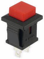 Vorschau: Snap-in Drucktaster mit Lötösen, 14x14 mm, rot