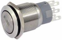 Vorschau: Schlüsselschalter metall 19 mm, 2 x Wechsler