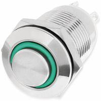 Vorschau: LED-Druckschalter, Ringbeleuchtung grün 12 V, Ø12 mm, 2 A/48 V