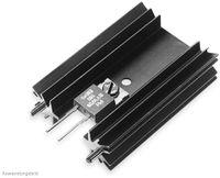 Vorschau: Kühlkörper, Fischer Elektronik, SK 104 38,1 STS, Leiterkartenkühlkörper , schwarz, Aluminium