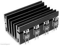 Vorschau: Kühlkörper, Fischer Elektronik, SK 68/ 50 SA, Profilkühlkörper, schwarz, Aluminium