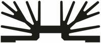Vorschau: Kühlkörper, Fischer Elektronik, SK 65 75 SA 2 x 3, Profilkühlkörper, schwarz, Aluminium