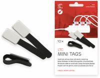 Vorschau: Klett-Kabelbinder LTC MINI TAGS, 10 Stück, schwarz