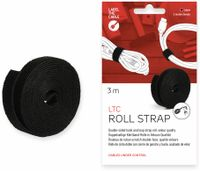 Vorschau: Klett-Rolle LABEL THE CABLE Roll Strap, 3 m, 16 mm, schwarz