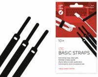 Vorschau: Klett-Kabelbinder LTC BASIC STRAPS, schwarz, 10 Stück