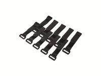 Vorschau: Klett-Kabelbinder LOGILINK KAB0056, 150x20 mm, schwarz, 10 Stück