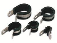 Vorschau: Kabelschelle, HellermannTyton, Snapper, Abdeckung, 211-15120, Alu12C, natur/sw, AluProfil, 1 Stück