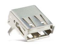 Vorschau: USB-A Einbaubuchse, 90°, SMD