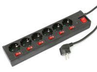 Vorschau: Steckdosenleiste DAYHOME SLSKU-6/S6S, 6-fach, schwarz