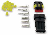 Vorschau: Wasserdichtes Steckverbinder-Set, IP65, 3-polig