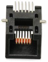 Vorschau: SMD Modularbuchse MOLEX 0855025007, 6P6C, 90°