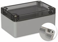 Vorschau: POLLIN, Polycarbonat Gehäuse, 120 x 80 x 55 mm, IP66, Lichtgrau, Glasklarer Deckel