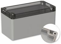 Vorschau: POLLIN, Polycarbonat Gehäuse, 160 x 80 x 85 mm, IP66, Lichtgrau, Glasklarer Deckel