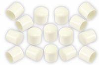 Vorschau: Stuhlgleiter 22 mm, 16 Stück, weiß