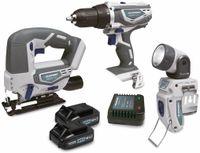 Vorschau: Starterset 2 BLAUPUNKT, Bohrschrauber, Stichsäge, Taschenlampe, 18 V Li
