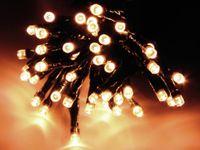 Vorschau: LED-Lichterkette, 48 LEDs, warmweiß, Batteriebetrieb, IP44, Timer