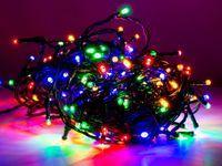Vorschau: LED-Lichterkette, 80 LEDs, bunt, 230V~, IP44, Innen/Außen