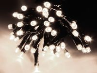 Vorschau: LED-Lichterkette, 80 LEDs, kaltweiß, 230V~, IP44, 8 Funktionen, Memory