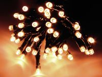 Vorschau: LED-Lichterkette, 120 LEDs, warmweiß, 230V~, IP44, 8 Funktionen, Memory