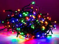Vorschau: LED-Party Lichterkette, 40 LEDs, bunt, 230V~, IP44, 8 Funktionen, Memory