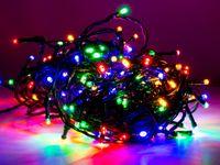 Vorschau: LED-Lichterkette, 120 LEDs, bunt, 230V~, IP44, 8 Funktionen, Memory