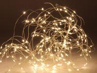 Vorschau: LED-Lichterkette, Silberdraht, 64 LEDs, warmweiß, 230V~, IP44, Innen/Außen
